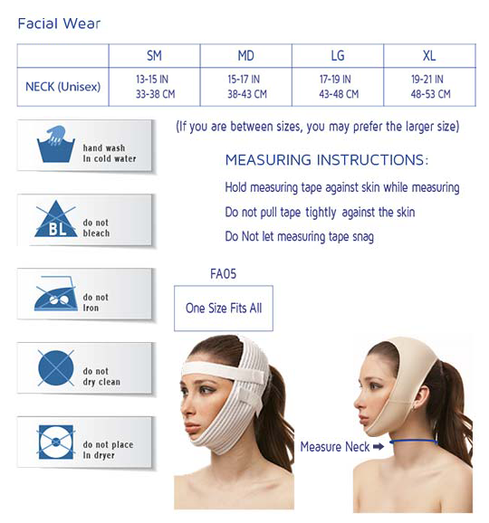 Post Facial Surgery Chin Strap Support Compression Garment | CH02