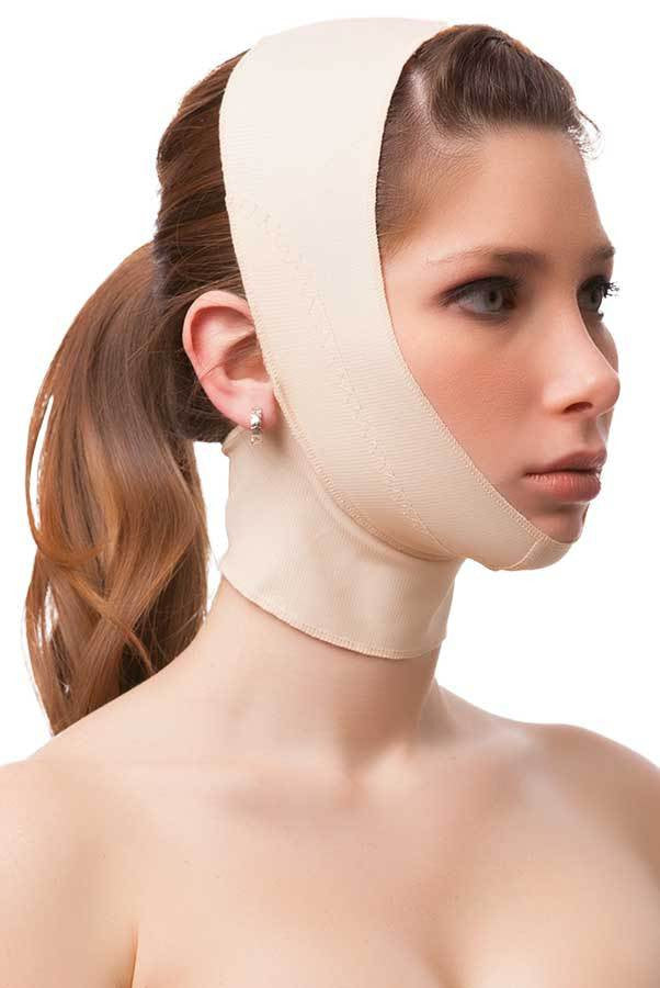 Post Facial Surgery Chin Strap Compression Garment with Medium Neck Support