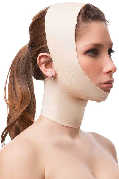 Post Facial Surgery Chin Strap Compression Garment with Full Neck Support | FA03
