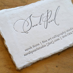 Letterpress on handmade paper.
