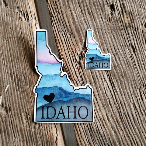 Idaho heart sticker