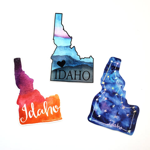 Idaho sticker bundle, 3 pack