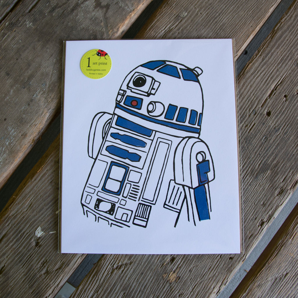 R2D2 art print, eco friendly