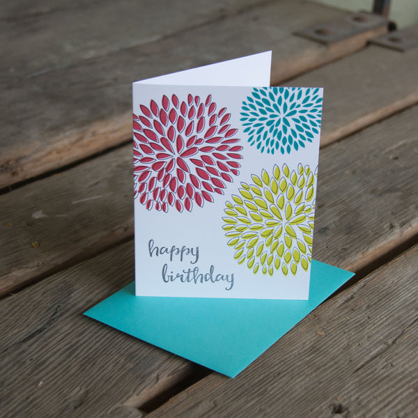 Mums Birthday, letterpress eco friendly