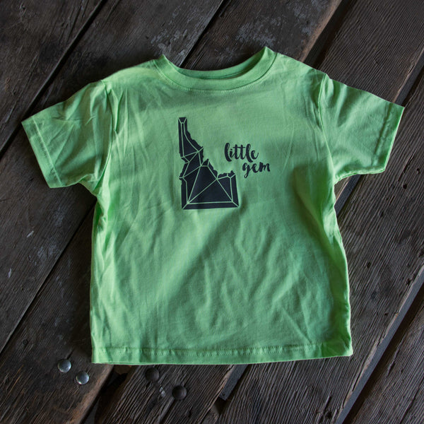 Idaho Gem T-shirt, eco-friendly waterbased inks