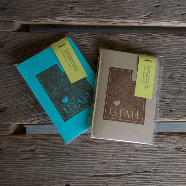 Custom State Notebooks, Coasters and Greeting cards, letterpress printed