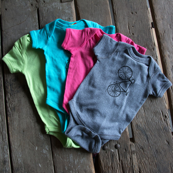 Bike onesie, eco-friendly waterbased inks