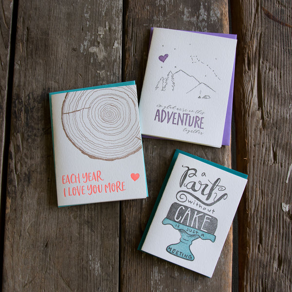 The Letterpress Subscription, Ladybug press goodies shipped monthly makes a great gift