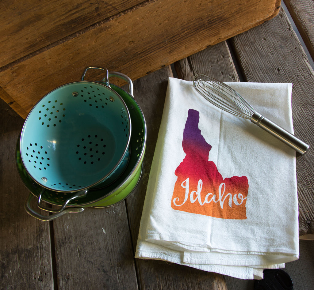 Custom State Screen Printed Tea Towel, flour sack towel