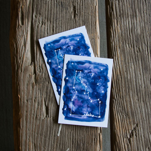 Idaho constellation tag, water color 6 pack