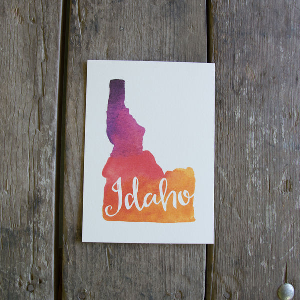Idaho watercolor art print, eco friendly