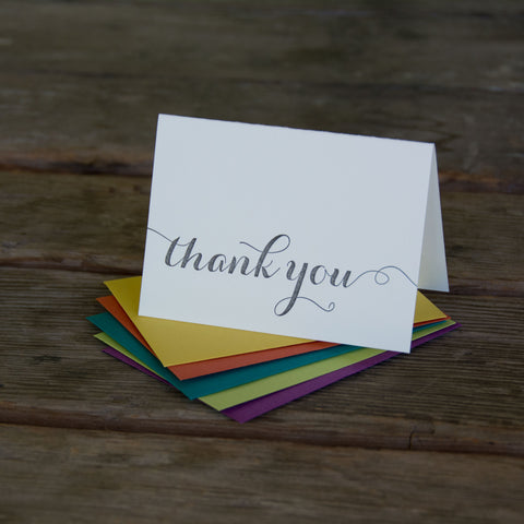 thank you letterpress cards, Eco friendly