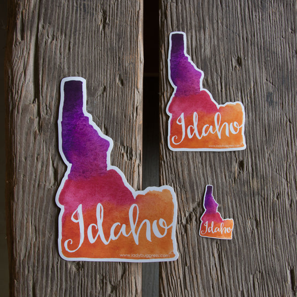 Idaho watercolor sticker