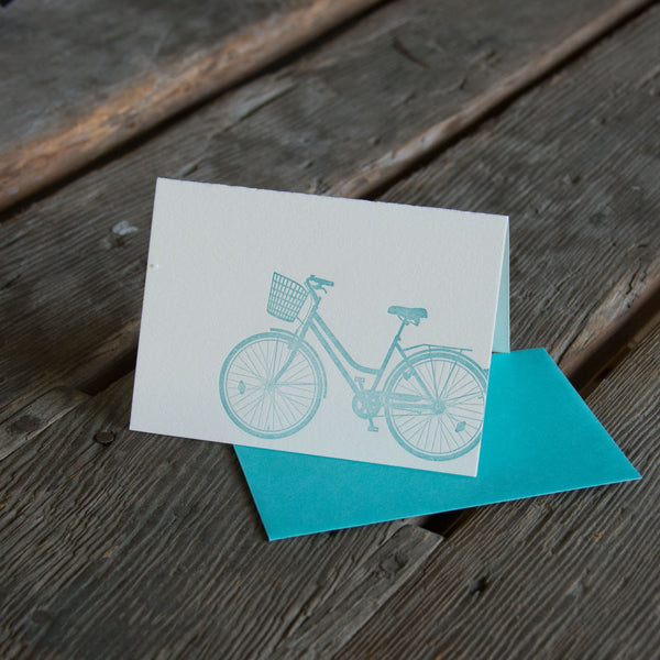 Bike Cards, letterpress printed, eco friendly. Colorful