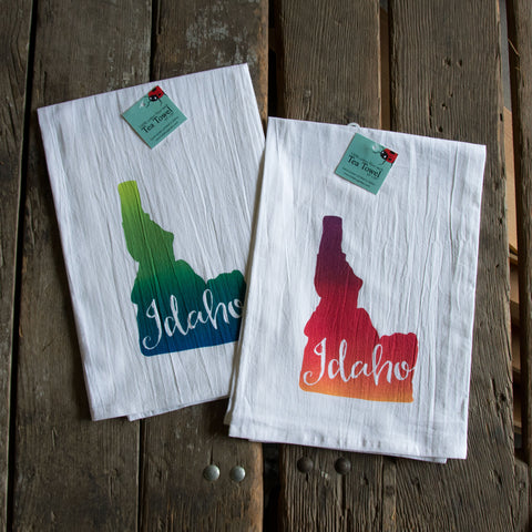 Idaho Screen Printed Tea Towel, flour sack towel