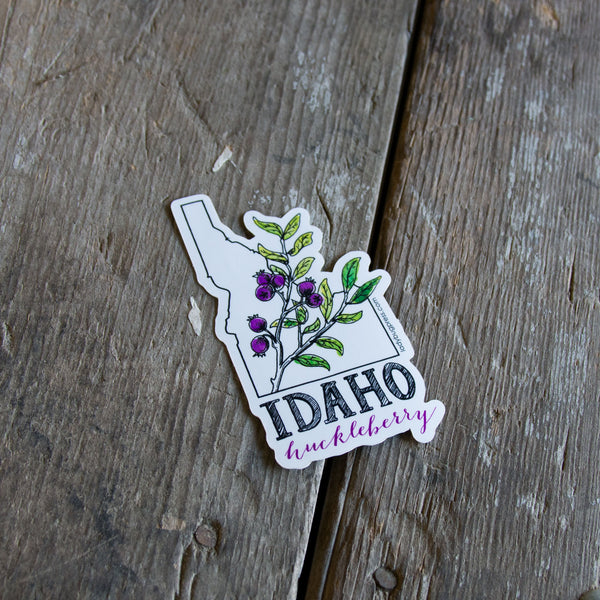 Idaho huckleberry sticker