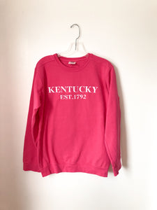 Kentucky Est. Comfort Color Crewneck - Heliconia
