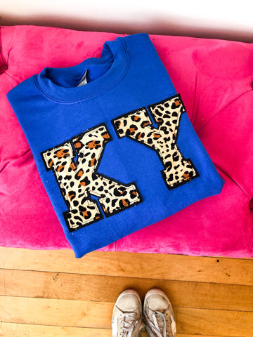 KY Double Layer Crewneck- Royal Blue