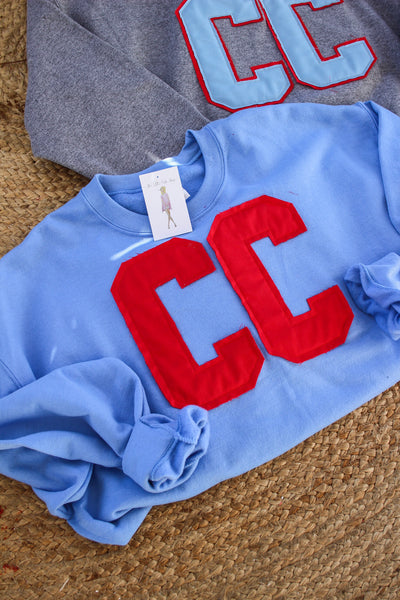 CC Block Crewneck - Columbia Blue