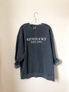 Kentucky Est. Comfort Color Crewneck - Denim