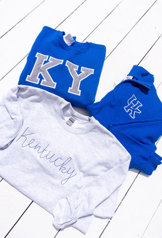 Kentucky Stitch Crewneck - Ash