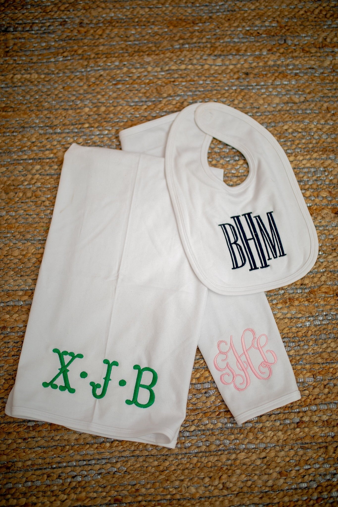 Monogram Burp Cloth