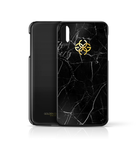 Black Marble x Gold | iPhone X Cover by Golden Concept