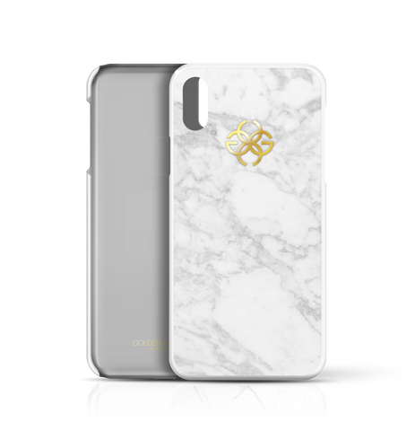White Marble x Gold | iPhone X Cover by Golden Concept