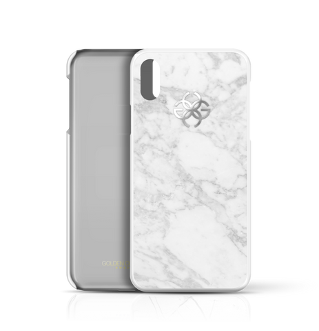 White Marble x Silver | iPhone X Cover by Golden Concept
