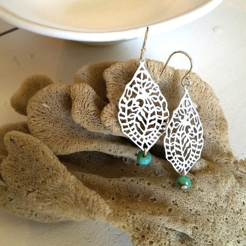 Leaf Filigree Earrings