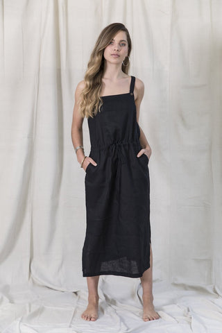 Faithful Overall Dress - Black