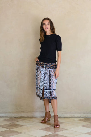 Desire Midi Skirt - Indian Masala