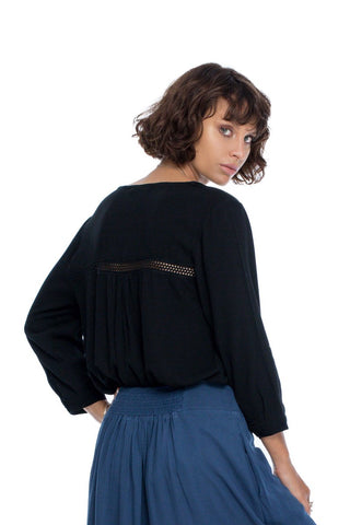 Follow Your Bliss Blouse - Black