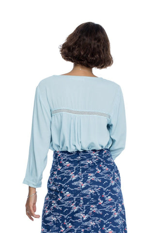 Follow Your Bliss Blouse - Baby Blue