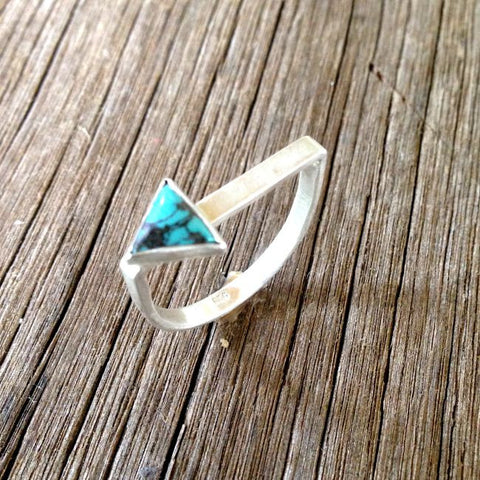 Arrow Stacker Ring Sliver