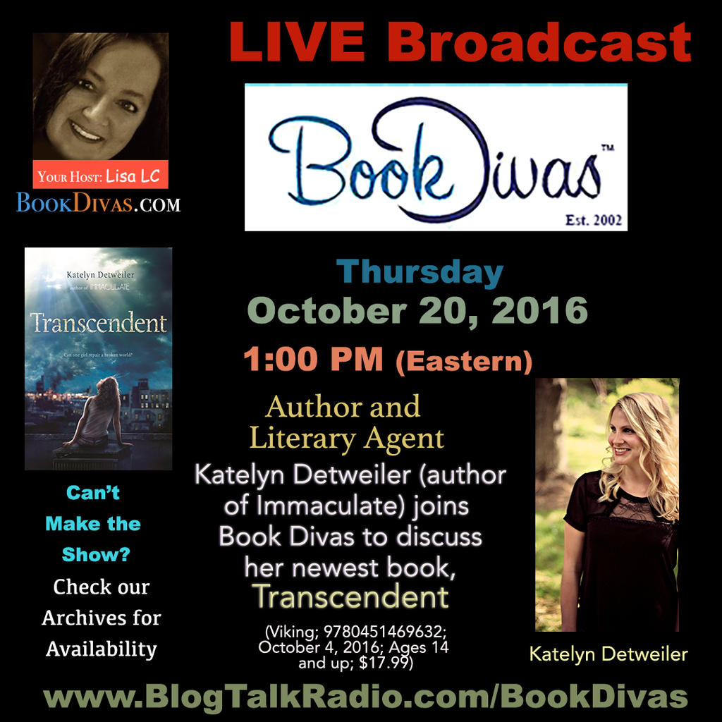 Katelyn Detweiler on Book Divas at 1:00 Eastern 10/20/16