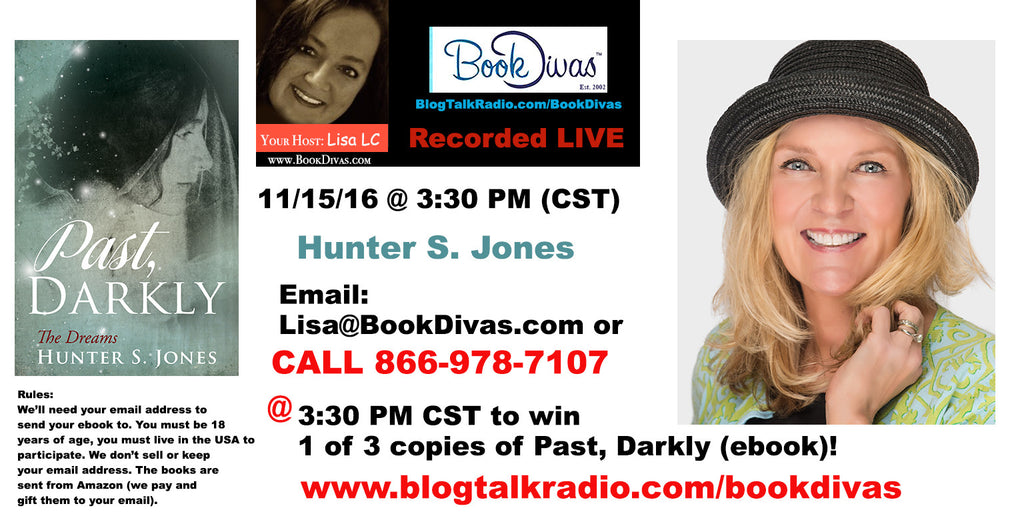 Hunter S. Jones Book Give Away today! 11/15/16 at 3:30 PM CST