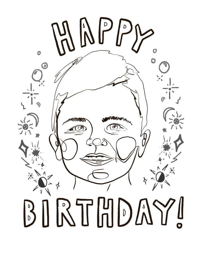 Custom Portrait Coloring Page