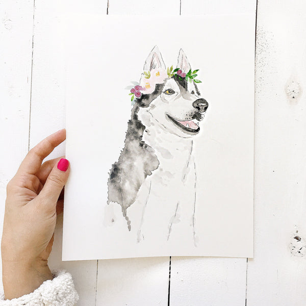 Custom Pet Portrait | Watercolor/Bohemian Style