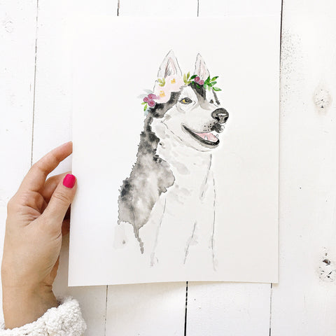 Custom Pet Portrait | Watercolor