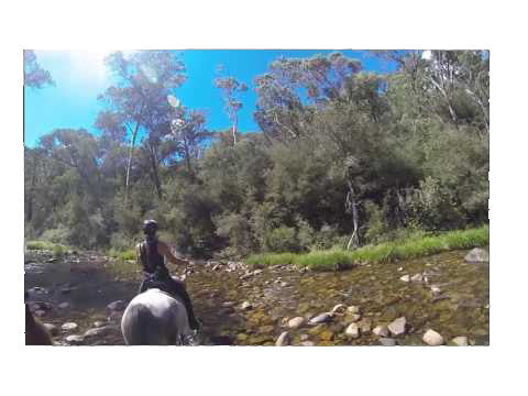 Scootin' in Water - Marieke and Rob Featonby, Victoria High Country, Australia