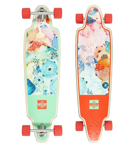 "Dusters Yellena Longboard Complete 38"" - Mint/Red"