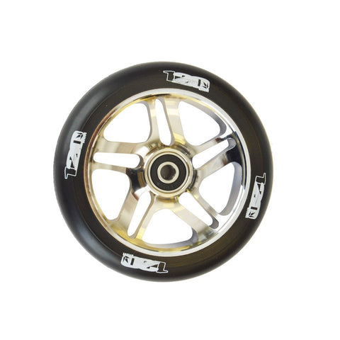 Envy 5 Spoke Scooter Wheel 120mm - Chrome/Black (Pair)