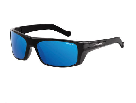arnette sunglasses  Arnette Sunglasses Conjure - Gloss Black/Blue Mirror \u2013 Skates USA