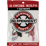 "Independent Cross Bolts 1"" Phillips - Black/Red"