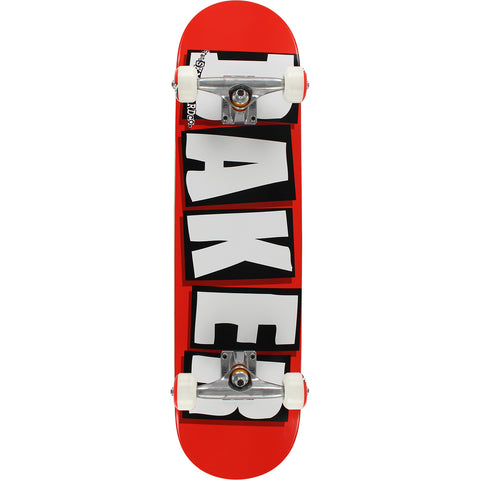 "Baker Brand Logo Complete Skateboard - 7.75"" Red/White/Black"