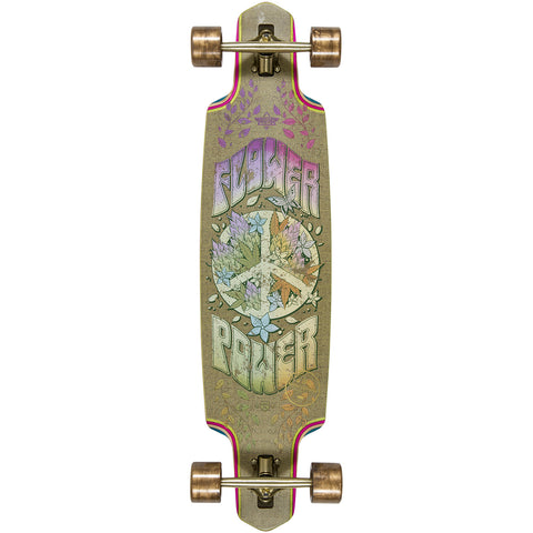 "Dusters Flower Power Complete Longboard 38"" - Gold"