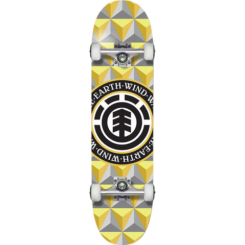 "Element Confier Complete Skateboard - 7.75"" Yellow/Gold/Grey"