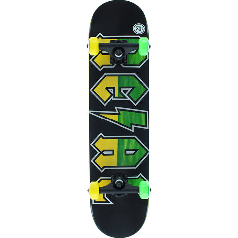 "Real Deeds Fade Complete Skateboard - 7.5"" Black/Green/Yellow"