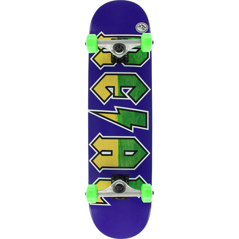 "Real New Deeds Medium Complete Skateboard 7.75"" - Purple/Green/Yellow"